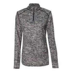 Blend Women's Quarter-Zip Pullover - Black - 2XL