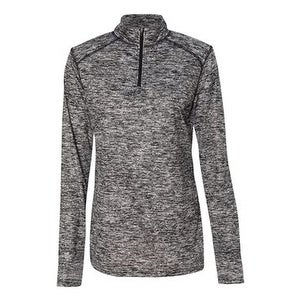 Blend Women's Quarter-Zip Pullover - Black - L
