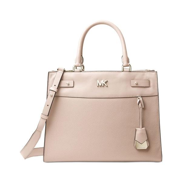 963a21285e6f67 Shop MICHAEL Michael Kors Reagan Large Leather Satchel Soft Pink ...