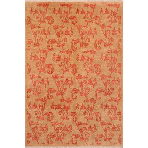 """Shabby Chic Ziegler Deana Hand Knotted Area Rug -8'1"""" x 9'9"""" - 8 ft. 1 in. X 9 ft. 9 in."""