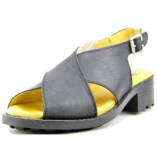 Eric Michael Sicily Open-Toe Leather Slingback Sandal