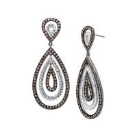 Crystaluxe Drop Earrings with Swarovski elements Crystals in Sterling Silver