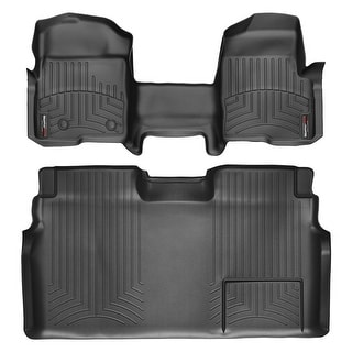 WeatherTech 444091-441793 Black Front & Rear FloorLiner Over the Hump: Ford F-150 2011 - 2011 Super Crew