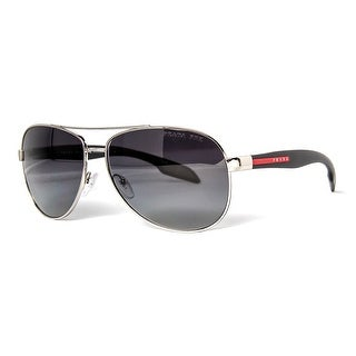 PRADA Aviator SPS 53P Men's 1BC-5W1 Silver Grey Gradient Sunglasses - 62mm-14mm-135mm