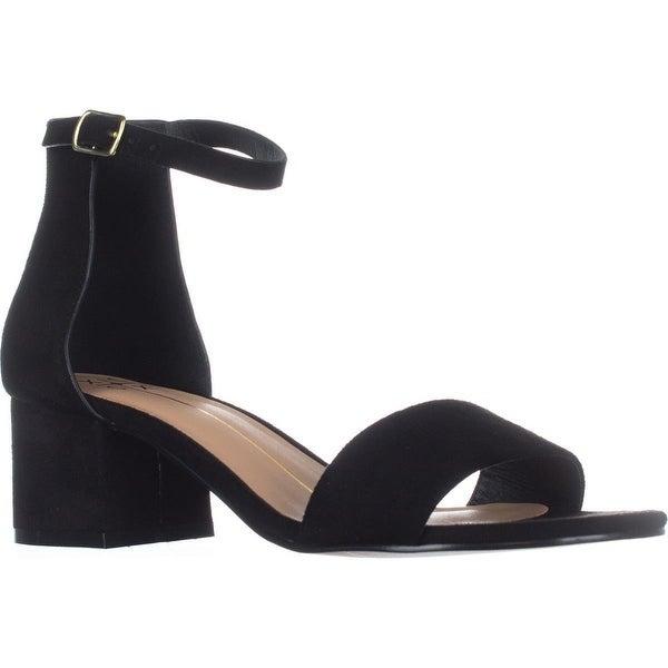 XOXO Horatio Block-Heel Ankle-Strap Sandals, Black