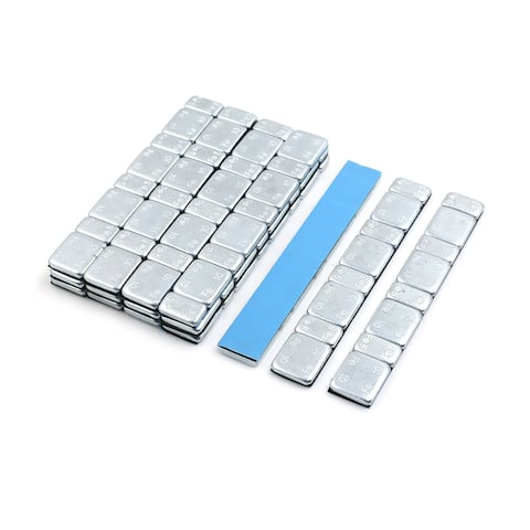 2.1oz Adhesive Back Wheel Balance Weights Strips for Motorcycle 124 x 18mm 15pcs