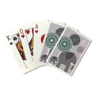 Simple Elephant - Purple - LP Artwork (Poker Playing Cards Deck)