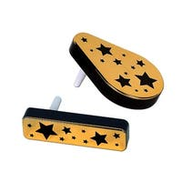 Club Pack of 20 Gold and Black Plastic Star Decorative Party Favors