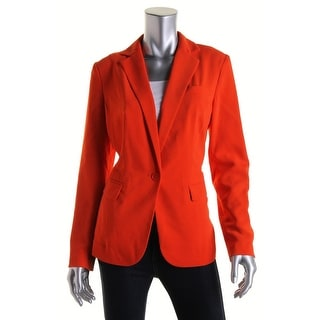 Lauren Ralph Lauren Womens Long Sleeve Notch Collar One-Button Blazer