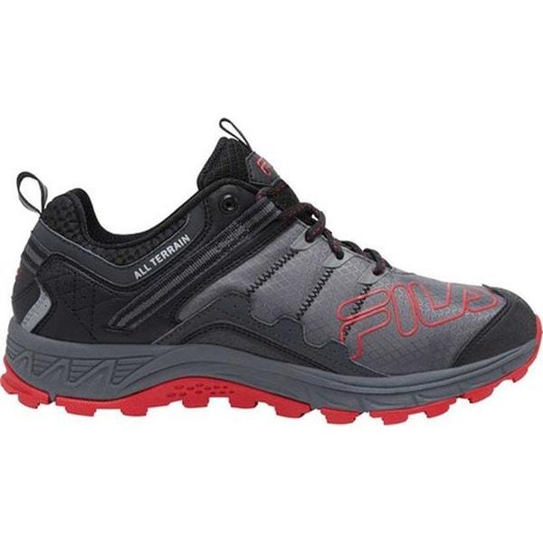 Fila Men's Blowout 19 Trail Running Shoe Castlerock/Black/Fila Red