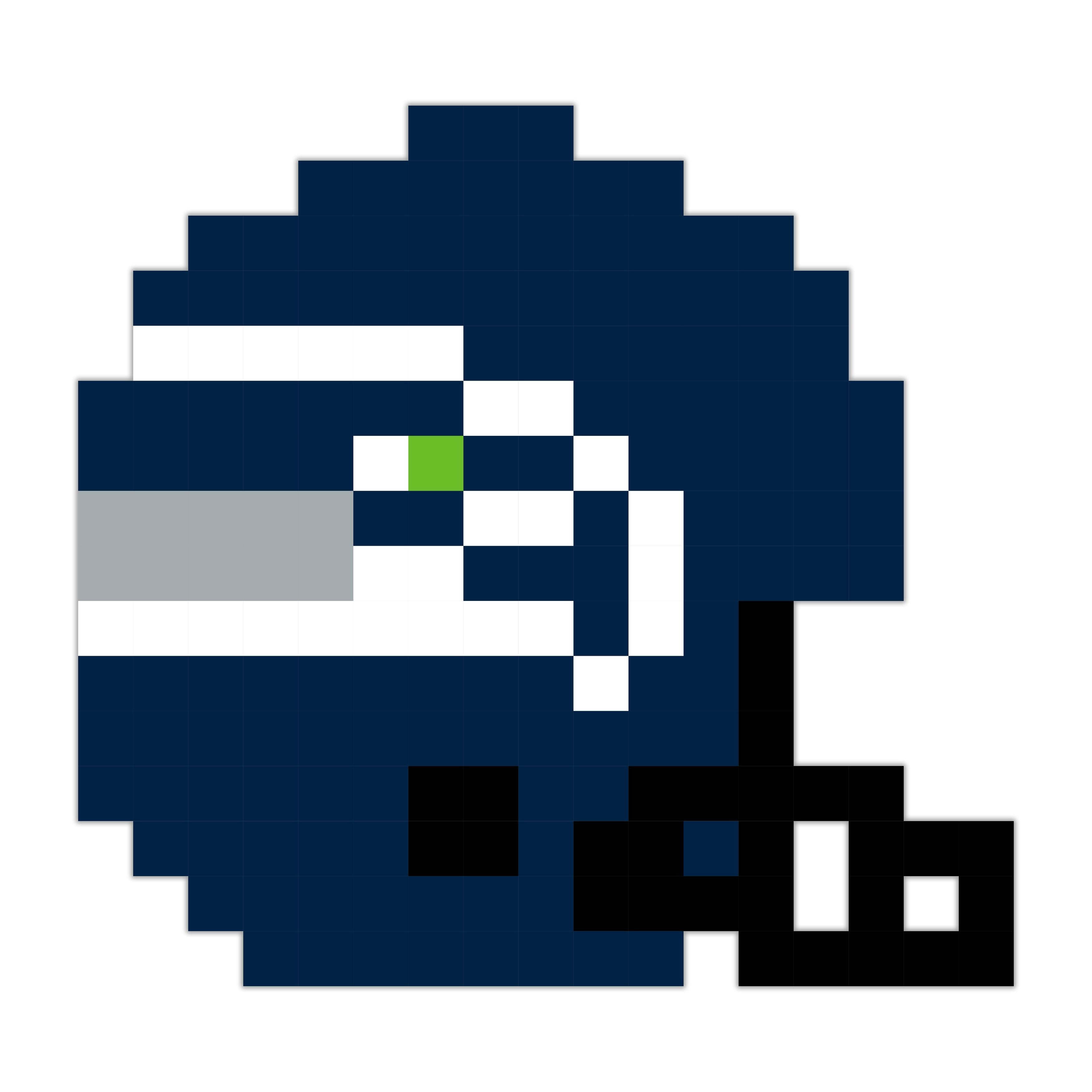 Seattle Football Helmet Pixel Art 6x6 Peelnstick Wall Art