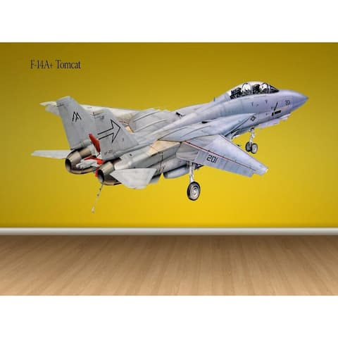 Tomcat F-14A US Jet plane Painting Like Wall Decal