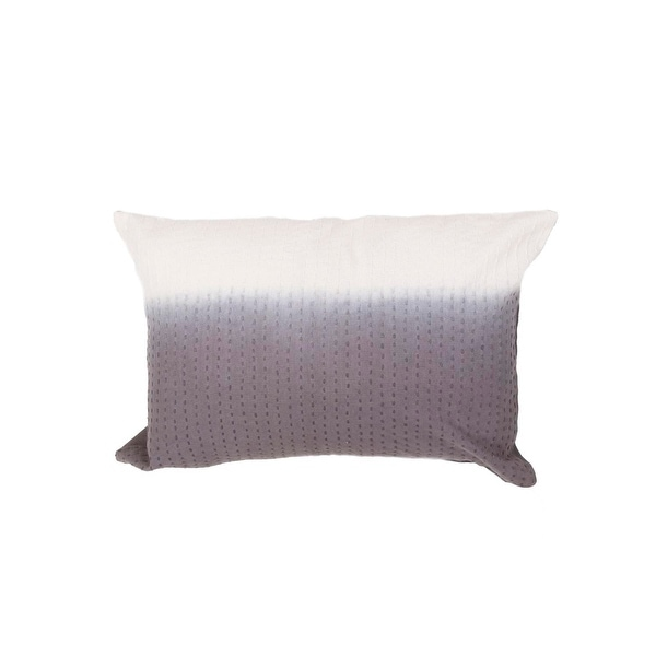 """20"""" Misty Gray and Vanilla White Two Tone Abstract Pattern Decorative Throw Pillow"""