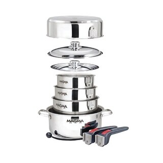 Magma 46111M MAGMA NESTABLE 10 PIECE INDUCTION COOKWARE