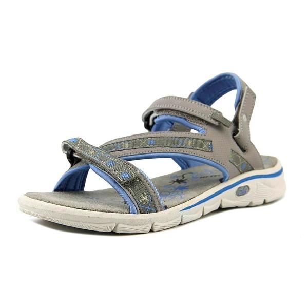 Hi-Tec Soul-Riderz Life Strap Women Open-Toe Synthetic Gray Sport Sandal
