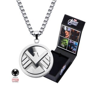 "Marvel S.H.I.E.L.D. Stainless Steel 24"" Chain Pendant Necklace"