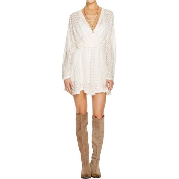 Free People Womens Snug Bug Casual Dress Wool Blend Faux Wrap