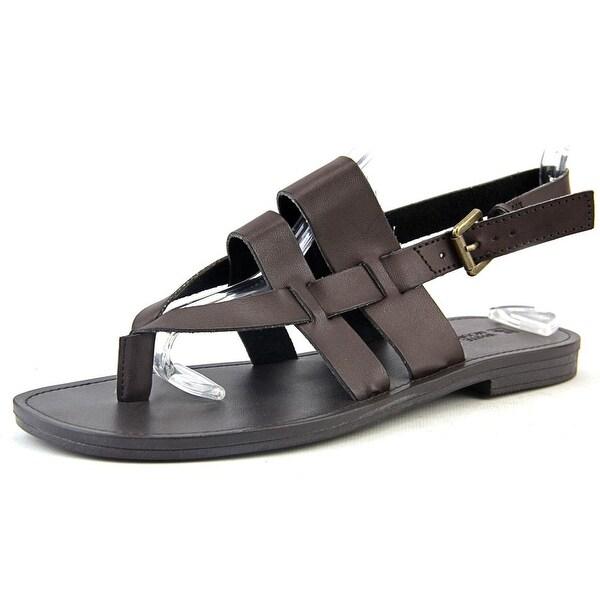 White Mountain Gloryroad Women Open-Toe Synthetic Brown Slingback Sandal