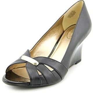 Circa Joan & David Jemmaa   Open Toe Leather  Wedge Heel