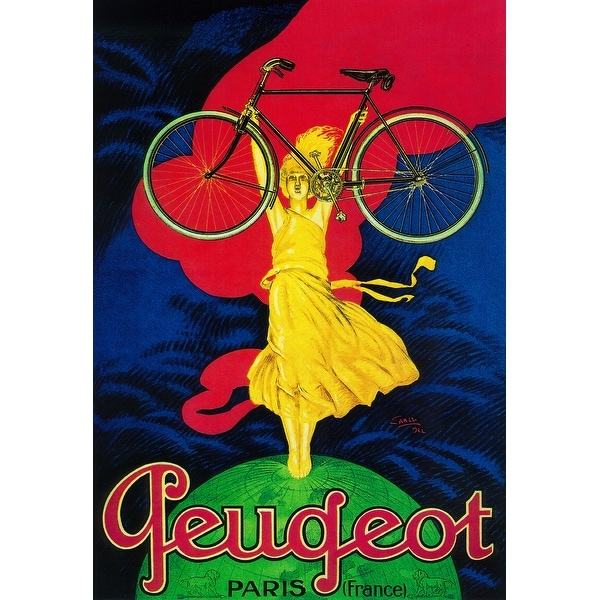 Peugeot Bicycle - Vintage Advertisement (Light Switchplate Cover)