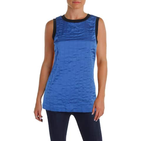DKNY Womens Casual Top Silk Sleeveless