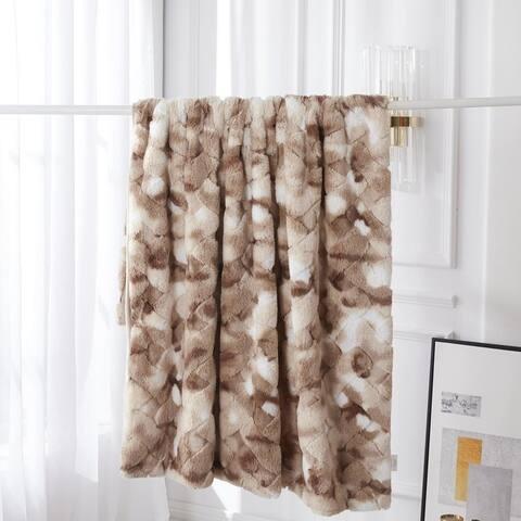 De Moocci Textured 3D Super Soft Luxury Throw