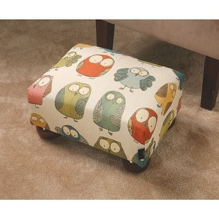 Tapestry Owls Upholstered Footstool