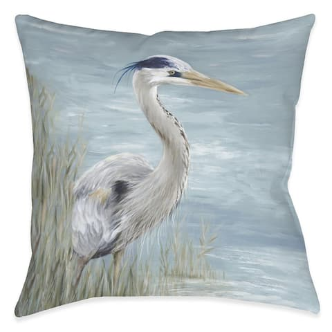 Heron by the Bay Indoor Pillow
