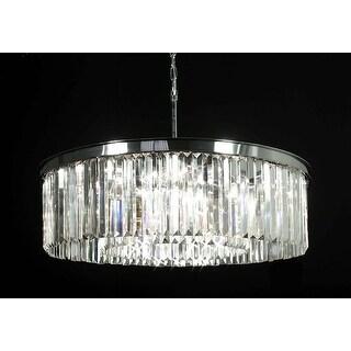 Crystal Glass Fringe 1-tier Chandelier