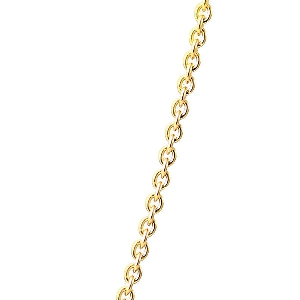 1x Rose Gold over Plated Thin Italian Cable Chain Necklace Women Fashion Jewelry