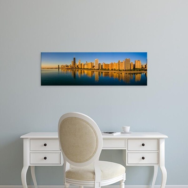 Easy Art Prints Panoramic Image 'Gold Coast buildings at waterfront, Chicago, Cook County, Illinois, USA' Canvas Art
