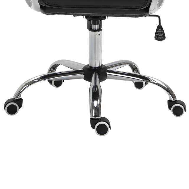Vinsetto Vanity Middle Back Office Chair Tufted Backrest Swivel Rolling Wheels Task Chair with Height Adjustable Armrests