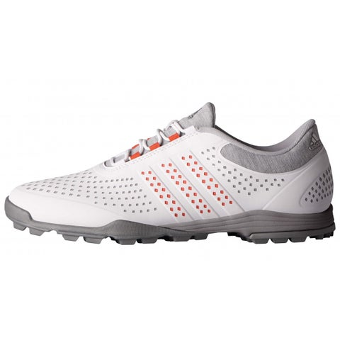 New Adidas Women's Adipure Sport Light Grey/Easy Coral/Dark Silver Met Golf Shoes Q44739