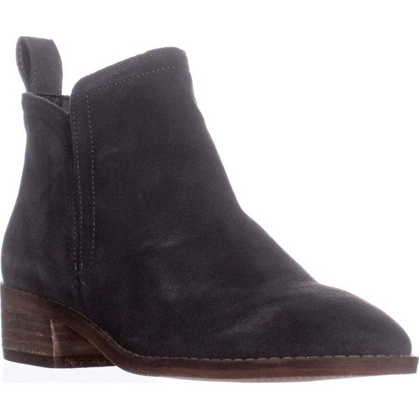 Dolce Vita Tessey Short Ankle Booties, Anthracite Suede