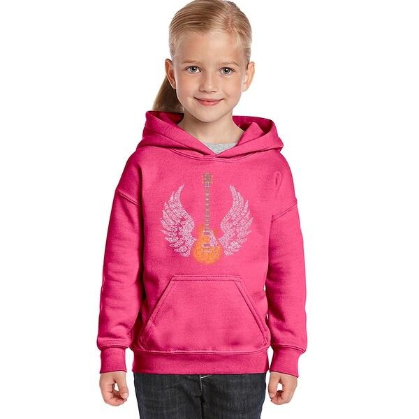 eb3a48eba6e3 LA Pop Art Girl s Word Art Hooded Sweatshirt - TO FREEBIRD - Pink ...