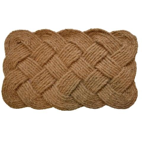 Braided Outdoor Brown Rope Door Mat - 30 x 48
