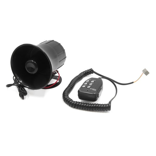 Motorcycle Car 6 Tone Sounds Megaphone Loud Air Horn Siren Speaker DC 12V