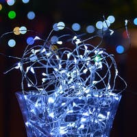 33ft 100 LED Waterproof Copper Wire Fairy Starry String Lights Decorative Rope Lights White