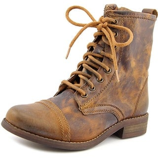 Steve Madden Charrie Women Cap Toe Leather Brown Boot