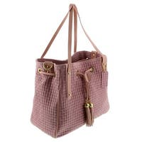 HS 2025 RA AGAPE Pink Leather Tote/Shopper Bags - 13-11-6