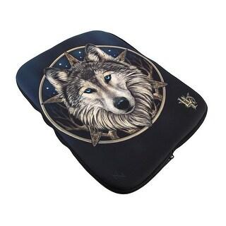 Lisa Parker `The Wild One` Celtic Wolf Neoprene iPad Sleeve
