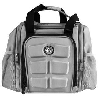 6 Pack Fitness Expert Innovator Mini Meal Management Bag - Gray/Black