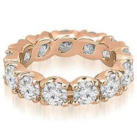 14K Rose Gold 3.40 cttw. Round Diamond Eternity Ring HI,SI1-2