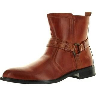 Delli Aldo Mens 608001 Distressed Moto Boots - tannish brown - 8 d(m) us