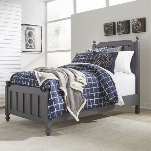 Cottage View Dark Grey Full Panel Bed