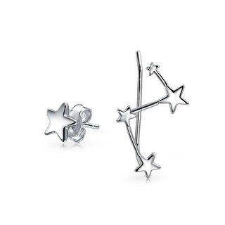 Bling Jewelry 925 Sterling Silver Constellation Ear Pin and Stud Earring