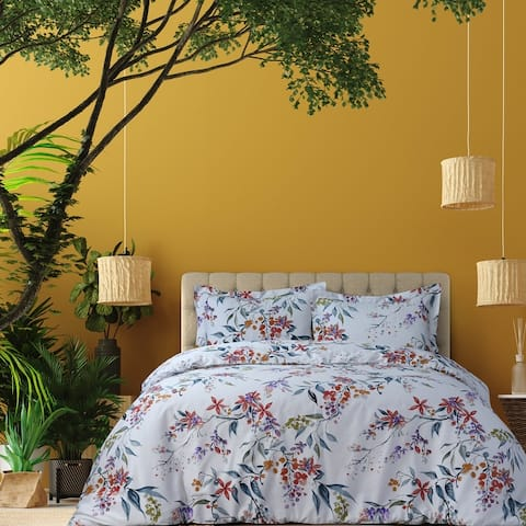 Azores Home Organic Cotton 300 Thread Count Oversized Duvet Cover Set
