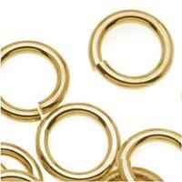 14K Gold Plated JUMPLOCK Jump Rings 10mm Diameter 14 Gauge Thick (20)
