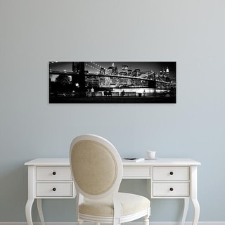 Easy Art Prints Panoramic Images's 'Brooklyn Bridge, East River, Manhattan, New York City, New York' Canvas Art