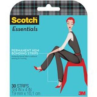 "Scotch Essentials Permanent Hem Bonding Strips-.75""X4"" 30/Pkg"